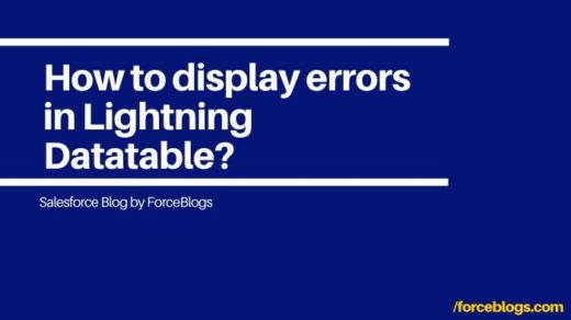 How to display errors in Lightning Datatable?