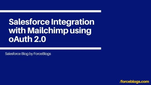 Salesforce Integration with Mailchimp using oAuth 2.0